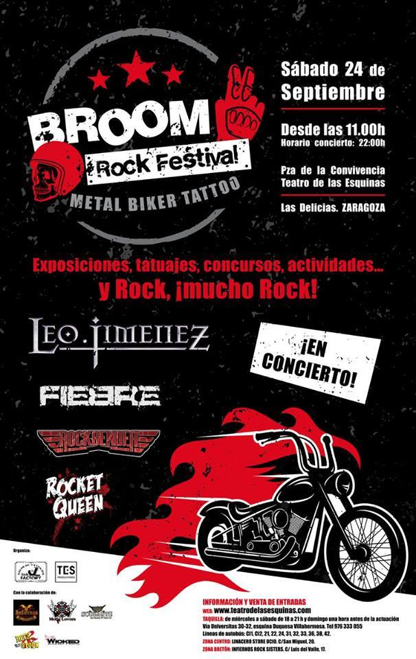 BROOM ROCK FESTIVAL METAL BIKER