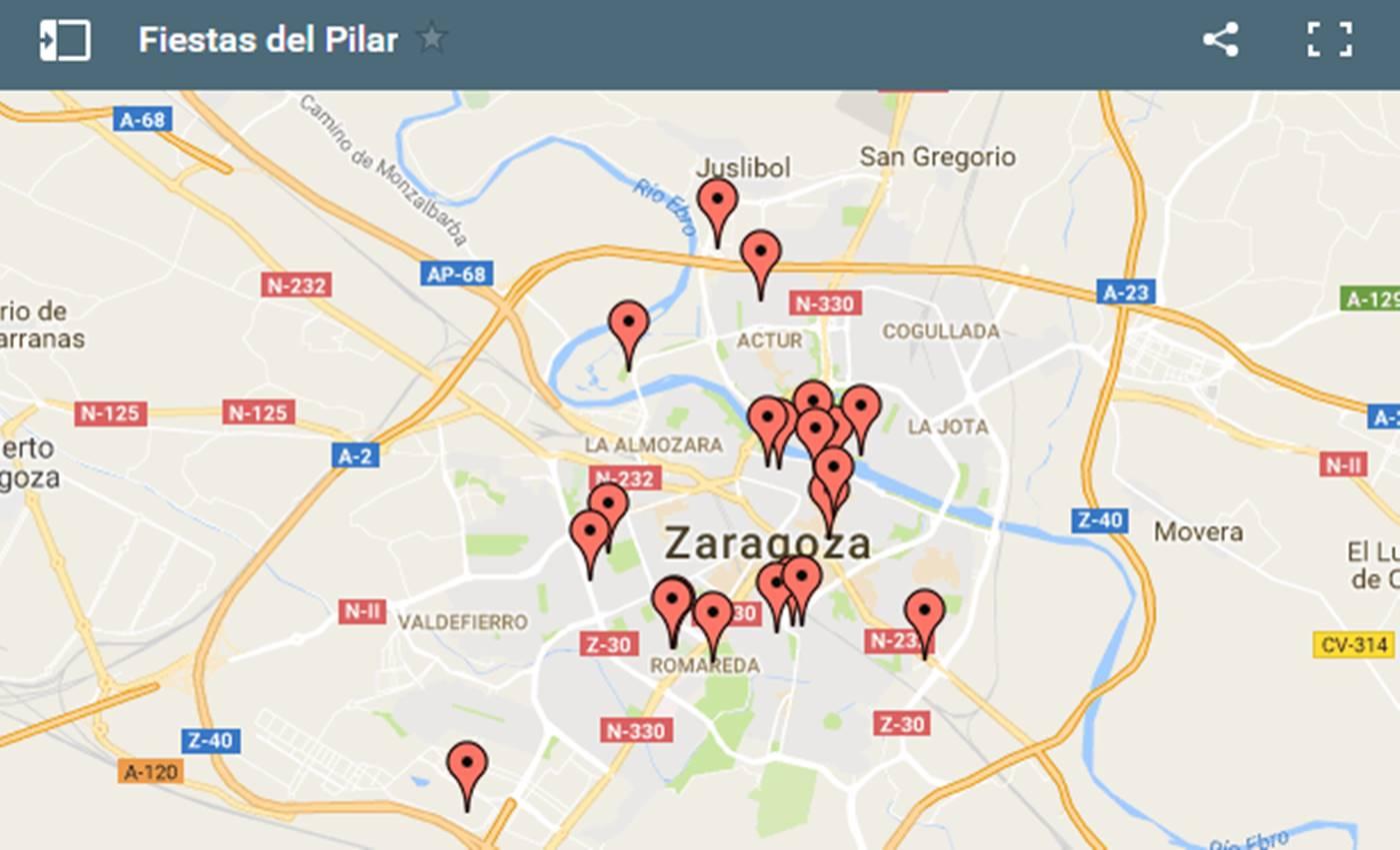 Mapa de escenarios de los Pilares 2016