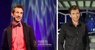 Pablo Motos, gracias a Juan Carlos Higueras, se ve presentando los Premios de la Música Aragonesa.