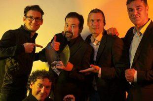 B Vocal con su Premio Especial a la Trayectoria en los XVI Premios de la Música Aragonesa Aragón Musical. Por: Jal Lux.