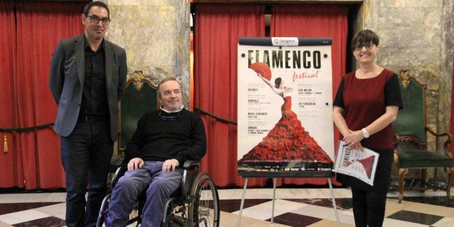 Durante la presentación de Festival Flamenco en Zaragoza 2017