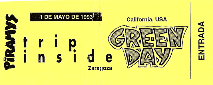 Entrada Green Day en Zaragoza