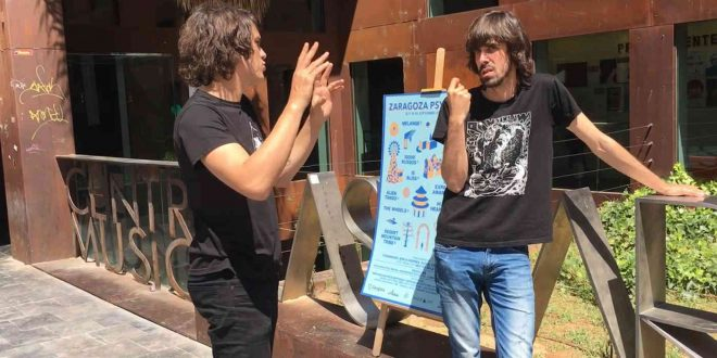 Fotograma de la entrevista al V Zaragoza Pych Fest para Aragón Musical Tv