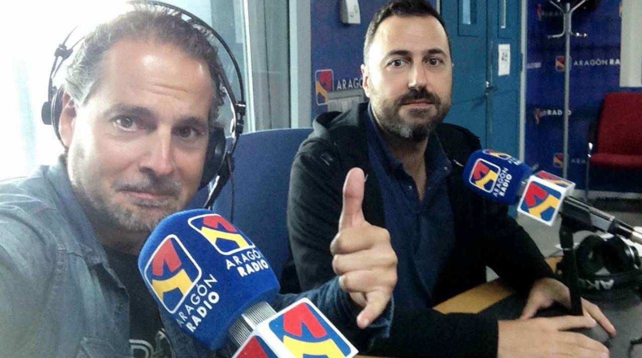 David Chapín y Sergio Falces desde el programa 'La Cadiera' de Aragón Radio.