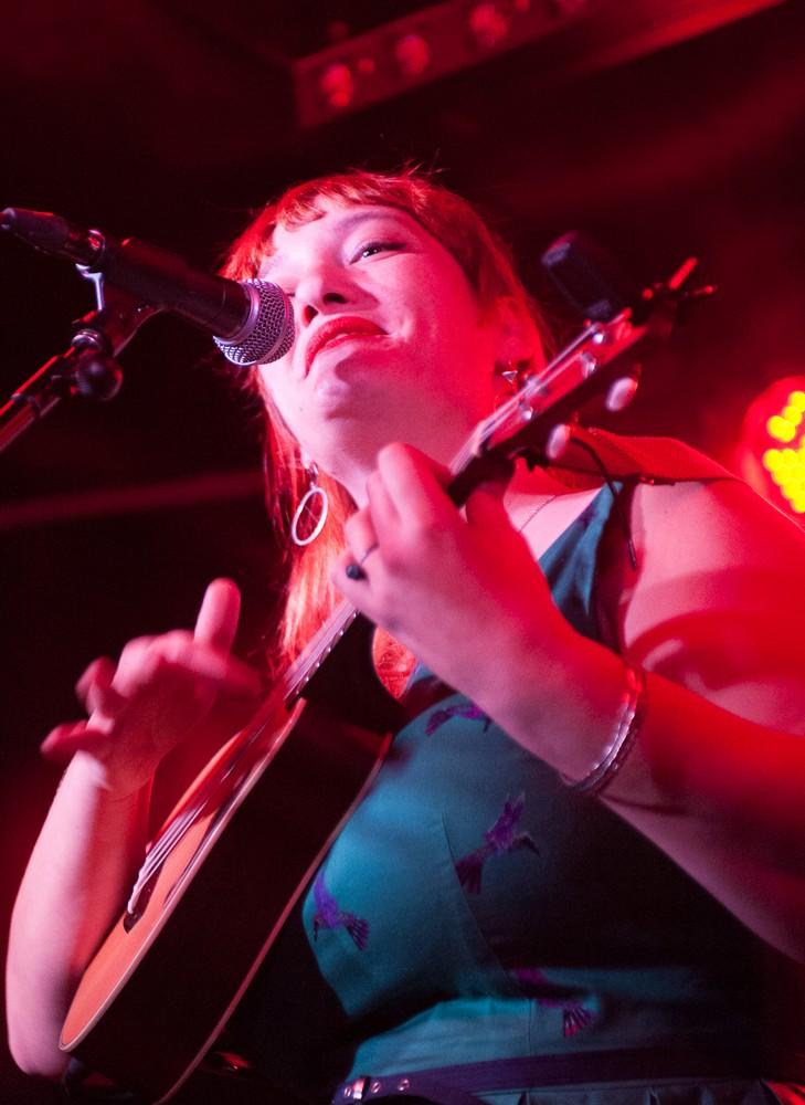 Louise Weber en La Sala LOPEZ el 2 de diciembre de 2017. Por Ángel Burbano