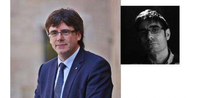 El vocalista aragonés Paco Cester (en blanco y negro) es, claramente, Carles Puigdemont.