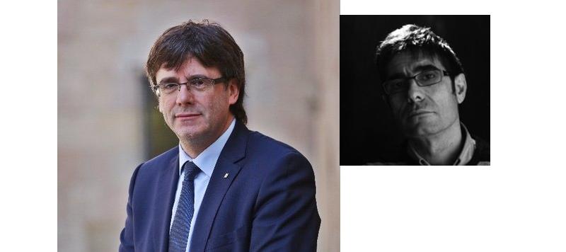 El vocalista aragonés Paco Cester (en blanco y negro) es, claramente, Carles Puitdemont.