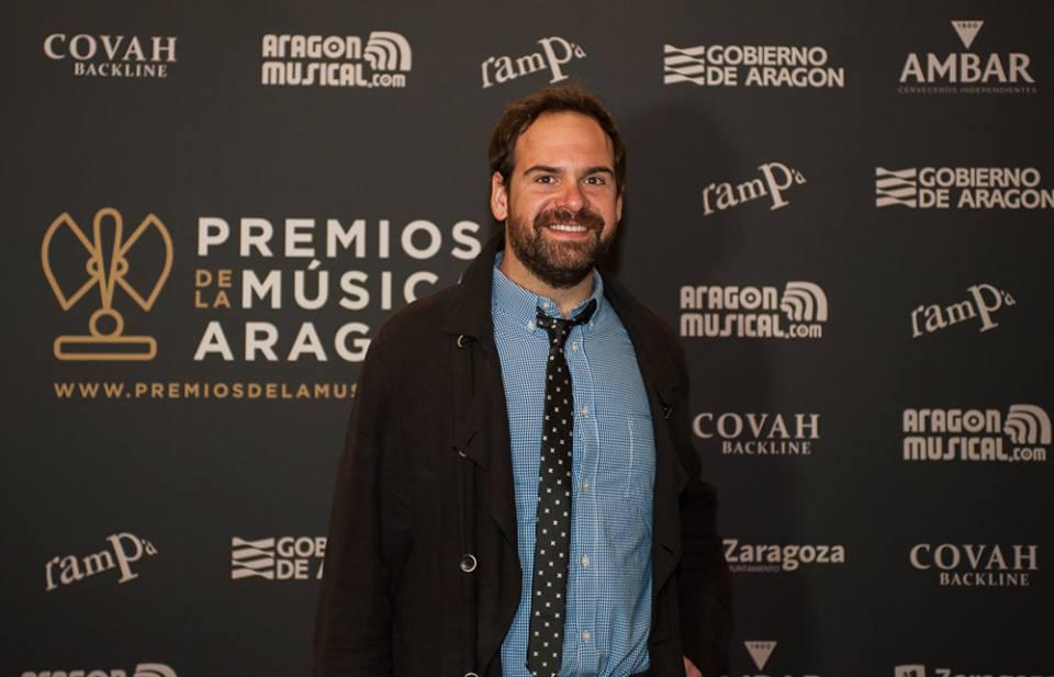 Jorge Usón en los XVIII Premios de la Música Aragonesa. Foto, Ángel Burbano