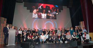 Foto de familia, de los XIX Premios de la Música Aragonesa. Foto, Ángel Burbano