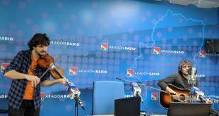 Óscar Llorente en Aragón Radio. Foto, Aragón Musical