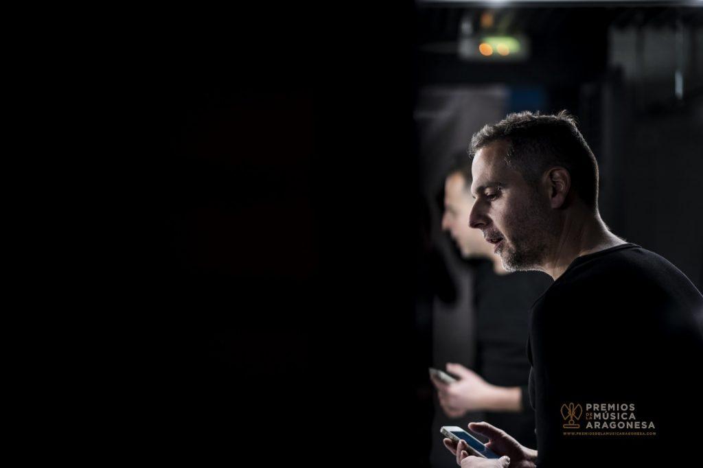 Sergio Falces. Momentos antes de la gala. Foto, Marcos Cebrián