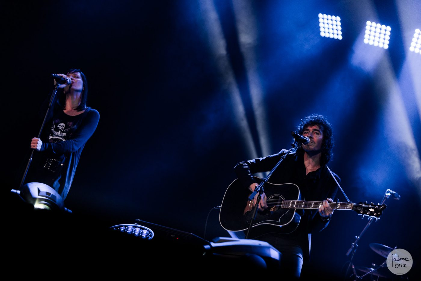 Rubén Pozo (Premio Global XIX Premios de la Música Aragonesa) y Clara Téllez. Foto, Jaime Oriz
