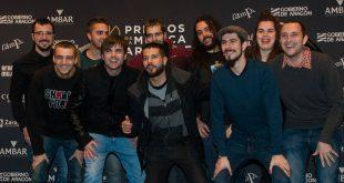 Fongo Royo, ganadores del Zerburock 2018, en los XIX Premios de la Música Aragonesa Aragón Musical