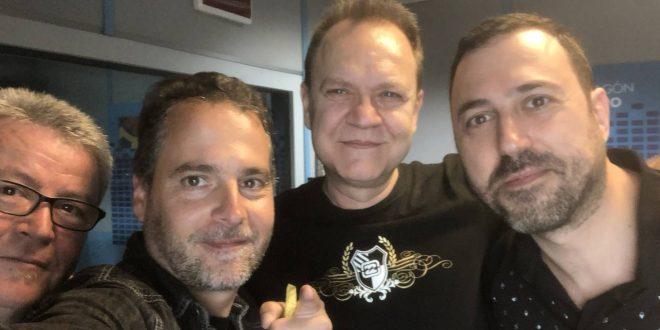 De izquierda a derecha: Quique Gallego, Sergio Falces, Juan Valdivia y David Chapín tras pasar por Aragón Radio