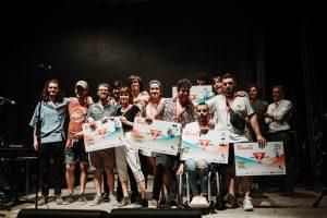 Foto de familia. Ganadores del AmbarZMusic 2018. Foto, Ana Escario / Aragón Musical