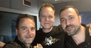 Juan Valdivia junto a David Chapín y Sergio Falces de Aragón Musical
