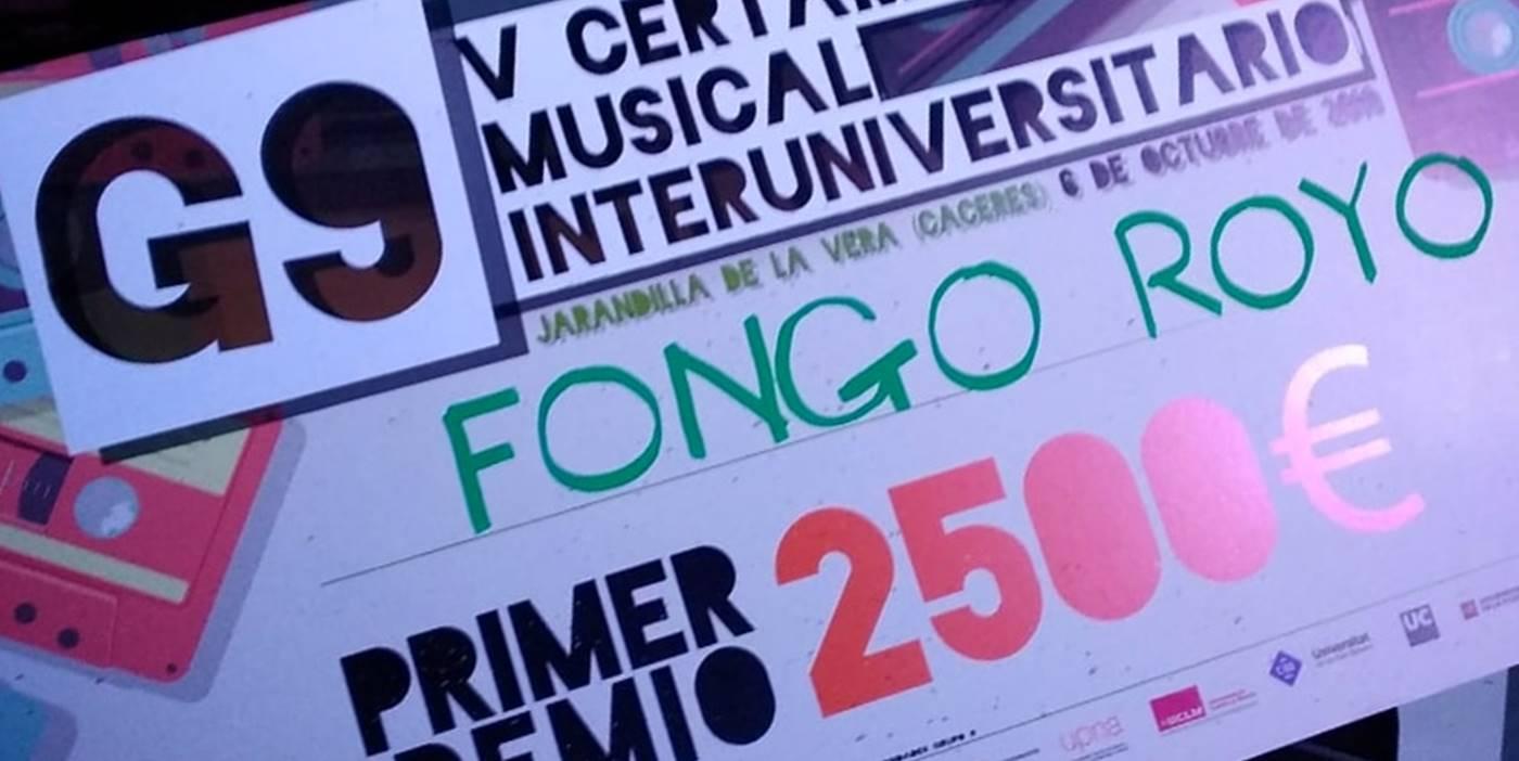 El premio de Fongo Royo por ganar el G-9 2018