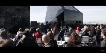 Fotograma del vídeo resumen de 'La Divina Comedia, Azotea de Estrellas' realizado por Ana Escario.