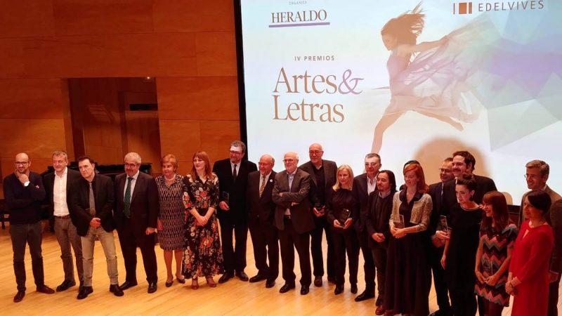 Foto de familia de los IV Premios Artes & Letras de Heraldo de Aragón