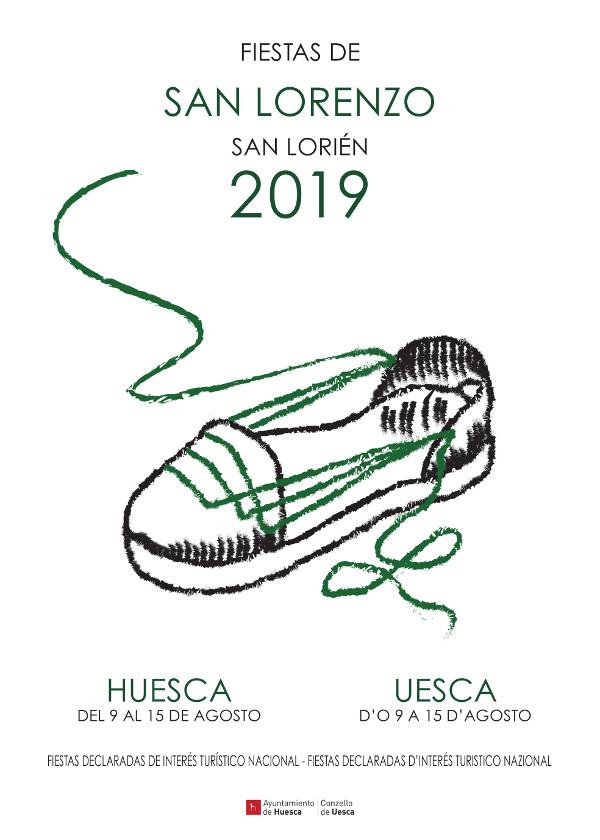 Cartel Fiestas San Lorenzo 2019