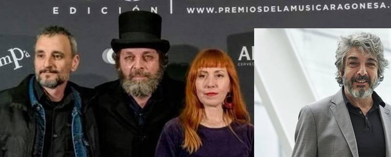 Nacho Saldaña, del grupo Ørbita, y el actor Ricardo Darín