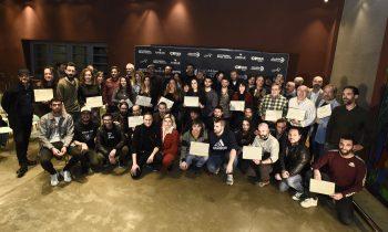 Foto de Familia entrega de Diplomas en los 21 PMA. Foto, Ángel Burbano
