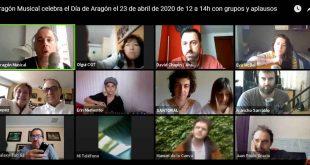 Una imagen de los 'Aplausos Online' de Aragón Musical del pasado 23 de abril