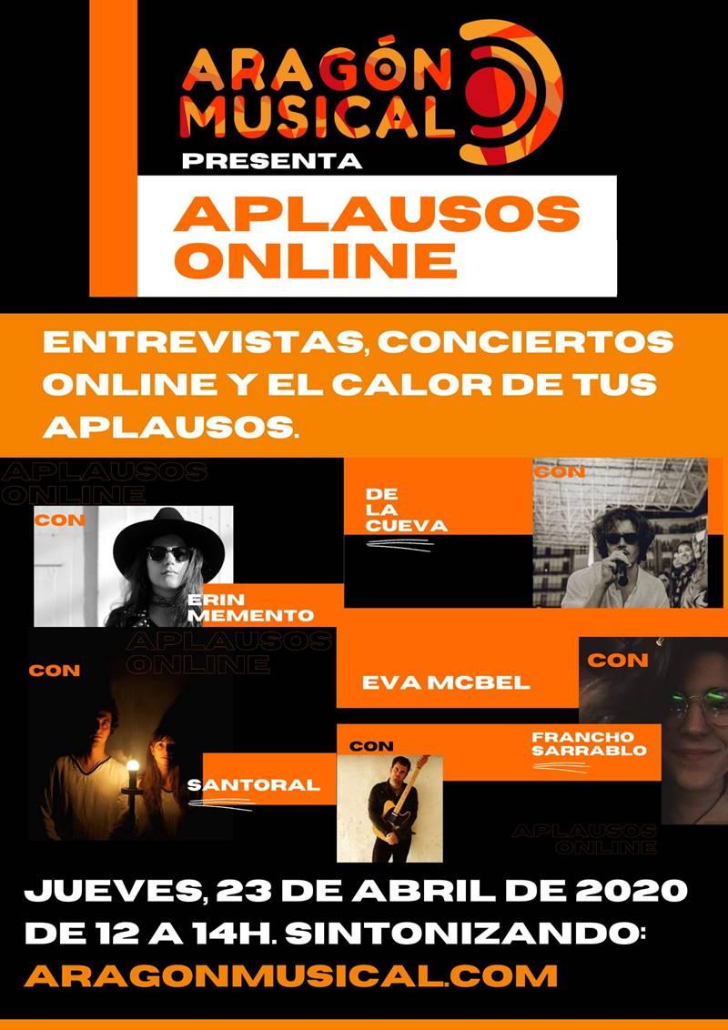 Cartel del 'Aplausos Online' de Aragón Musical
