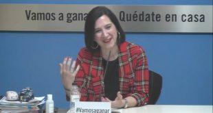 Sara Fernández, Vicealcaldesa del Ayuntaminto de Zaragoza hablando sobre las Fiestas del Pilar 2020