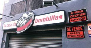 La Lata de Bombillas reivindica desde su fachada el ocio nocturno zaragozano. Foto de Aragón Musical.