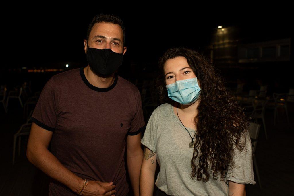 David Chapín y Eva McBel en el concierto de Mar Giménez en la Azotea del Pablo Serrano el 21 de agosto de 2020. Por Ángel Burbano
