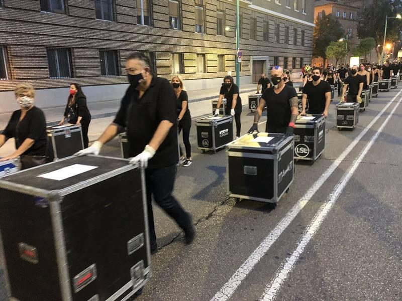 La reivindicación Alerta Roja de Zaragoza del 17 de septiembre de 2020. Por Aragón Musical.