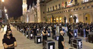 Movilización 'Alerta Roja' en Zaragoza hoy. Por Aragón Musical.
