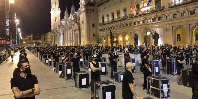 La Alerta Roja de Zaragoza moviliza ampliamente al sector del espectáculo