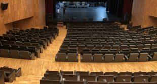 De preparación de los 21º Premios de la Música Aragonesa en el Palacio de Congresos de Huesca