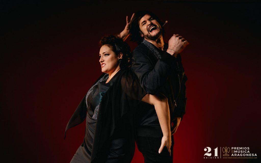 Irene Alquezar y Luis Cebrián 21º Premios de la Música Aragonesa. Foto, Jal Lux