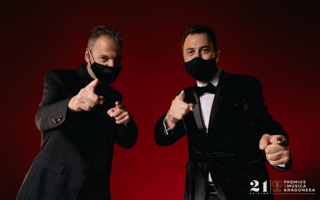 Sergio Falces y David Chapín. 21º Premios de la Música Aragonesa. Foto, Jal Lux