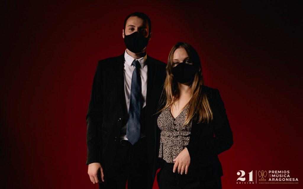 Ricardo Sainza e Isabela Cortés. 21º Premios de la Música Aragonesa. Foto, Jal Lux