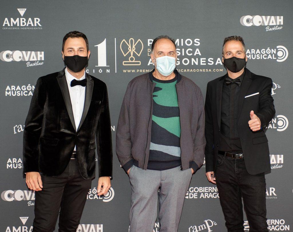 David Chapín, Luis Lles y Sergio Falces / 21 Premios de la Música Aragonesa. Foto, Ángel Burbano