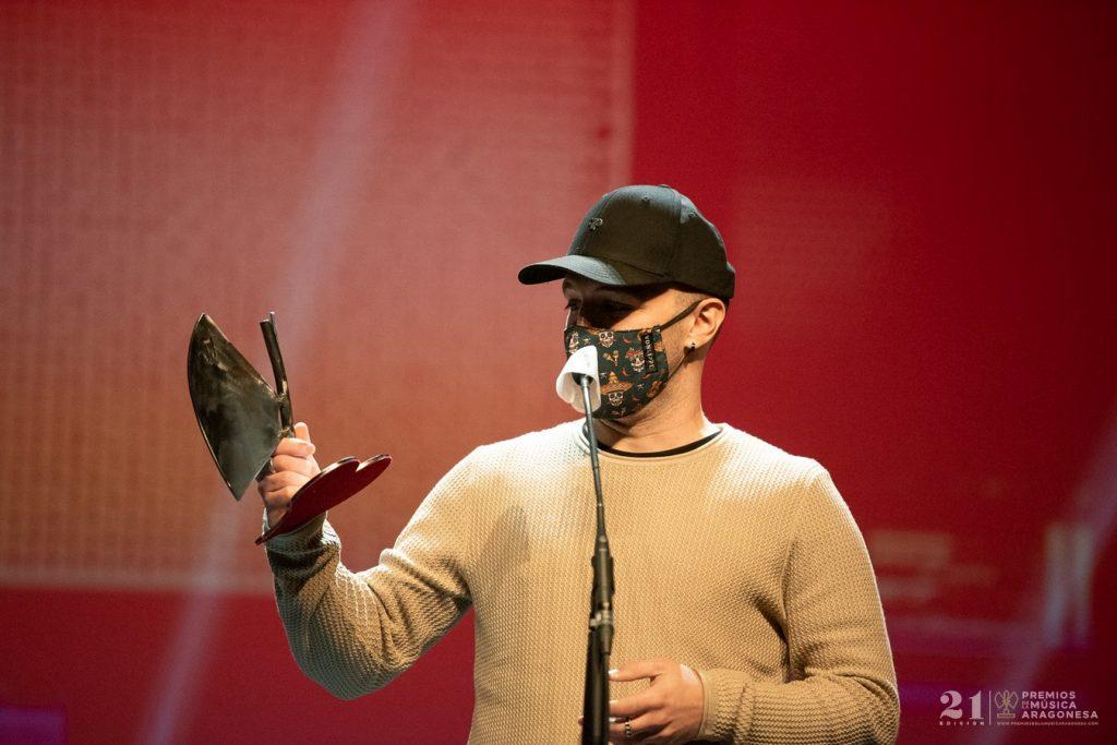 El Momo / 21 Premios de la Música Aragonesa. Foto, Ángel Burbano