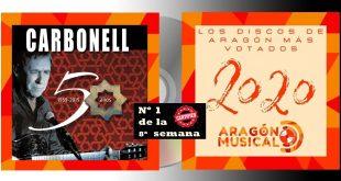 El Nº1 de los Discos Aragoneses de 2020 es Joaquín Carbonell en la 8ª semana de votaciones