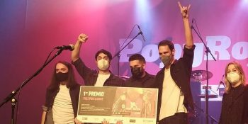 Mario Funes ganador del 15º Popyrock. Foto de Zaragoza Conciertos.