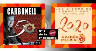 '50 años. 1969-2019′ de Joaquín Carbonell es el trabajo más votado en la 9ª semana de votaciones de los 20 Discos Aragoneses de 2020