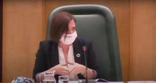 Sara Fernández, Vicealcaldesa de Zaragoza, durante su declaraciones relacionando los conciertos con el botellón.