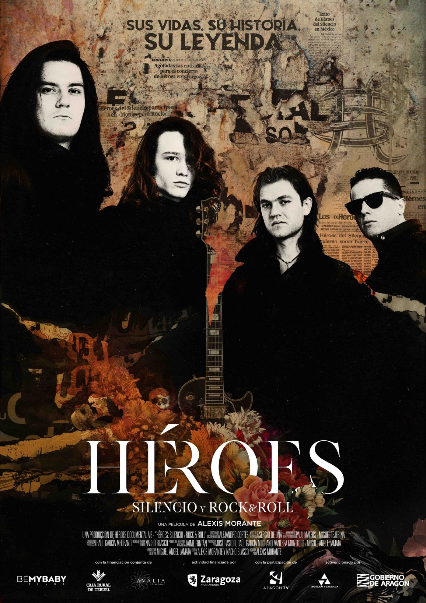 Cartel oficial Heroes: Silence And Rock & Roll'