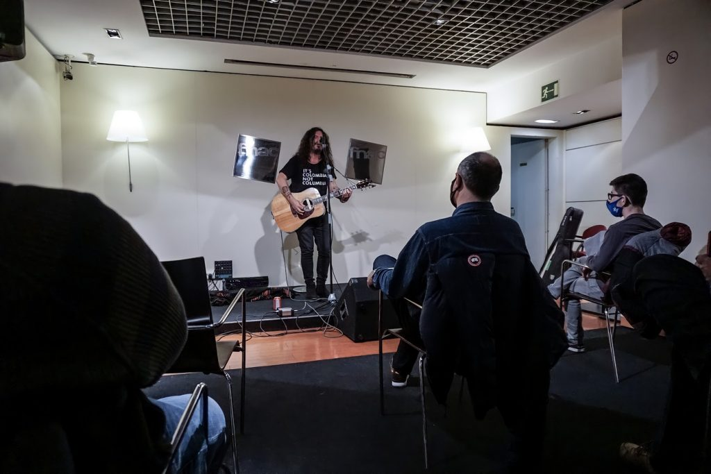 Razkin en Fnac, Zaragoza. 18/3/21 Por Laura García