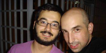 Cash Flow (a la izquierda) junto al productor del disco 'Grandcash' Pablo Duato 'Zokone'