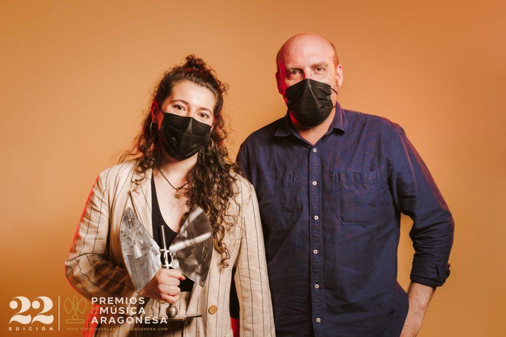 Eva McBel y José Manuel Glaria. 22º Premios de la Música Aragonesa. Foto, Jal Lux