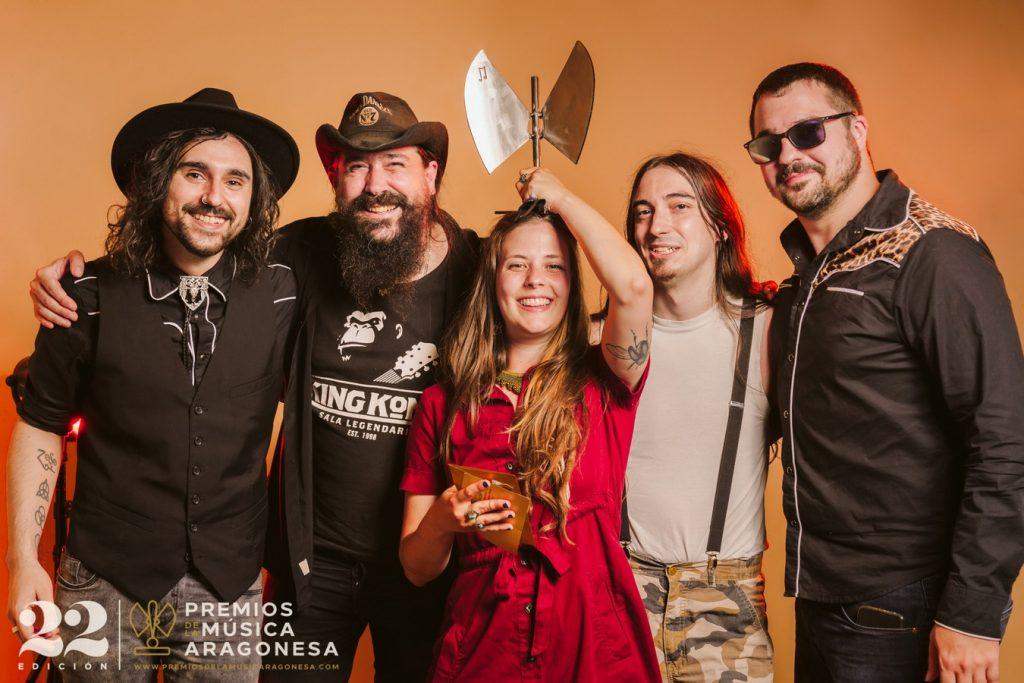 Los Drunken Cowboys y Julseen Moos. 22º Premios de la Música Aragonesa. Foto, Jal Lux
