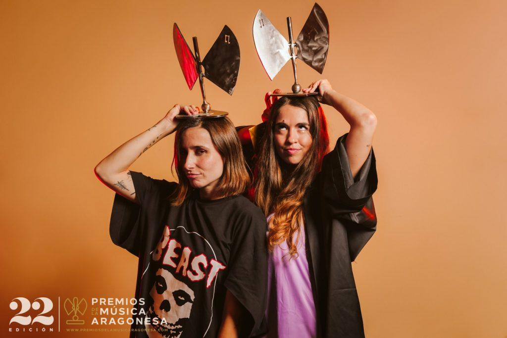 Anaju y Zahara. 22º Premios de la Música Aragonesa. Foto, Jal Lux